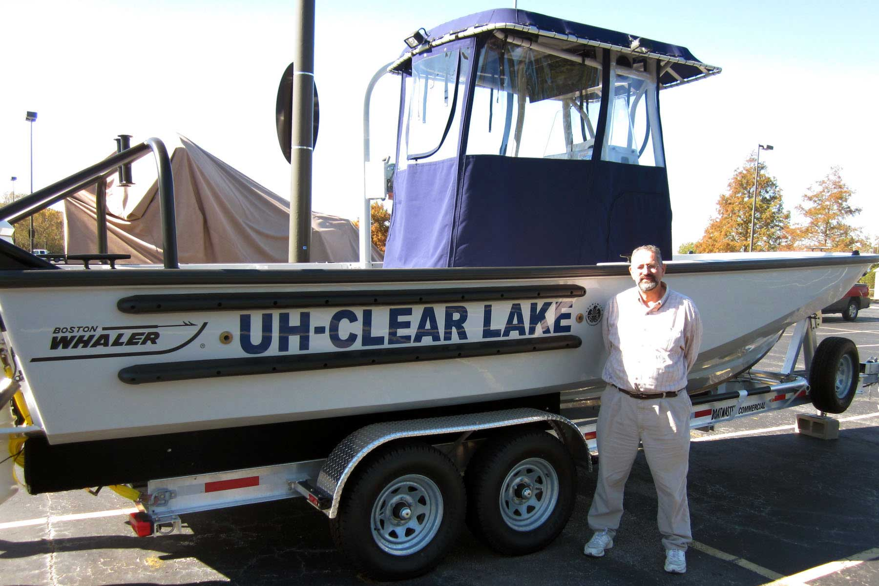 Dr. George Guillen, pictured with a 25-foot Boston Whaler