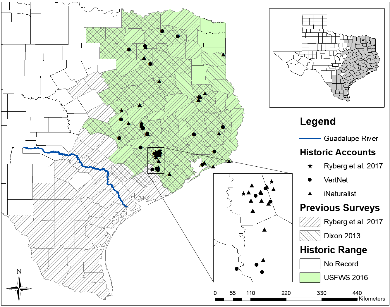 Historic range and accounts of western chicken turtles in Texas