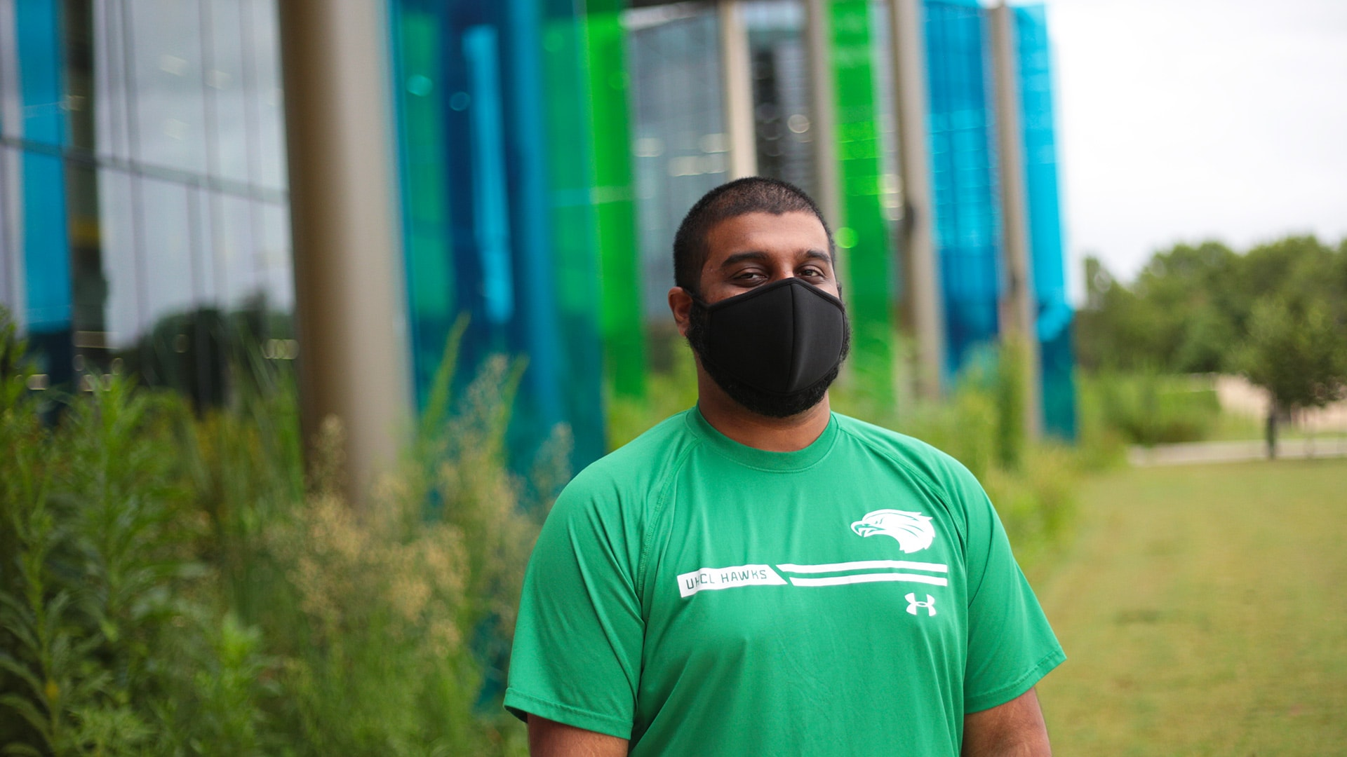 uhcl student in mask