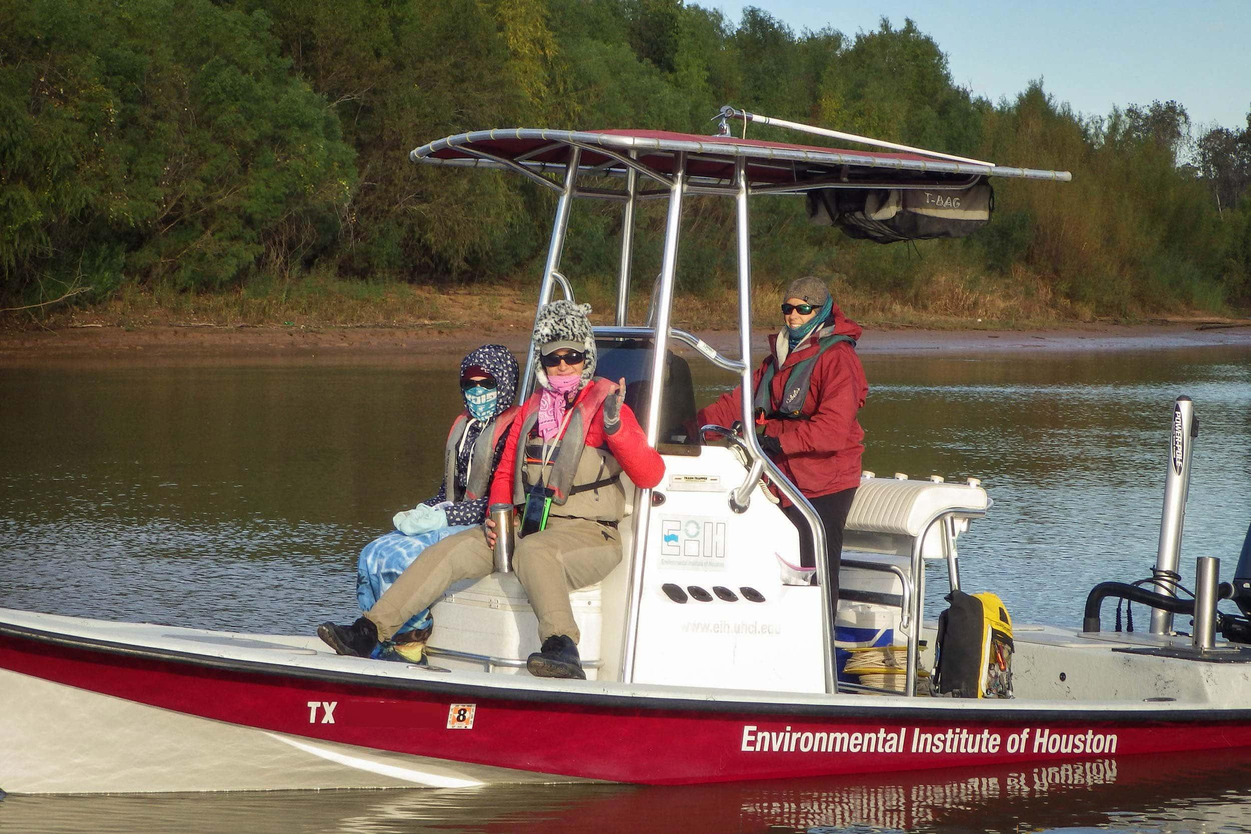Allison Norris, Nicole Morris, and Kristi Fazioli on the Brazos River
