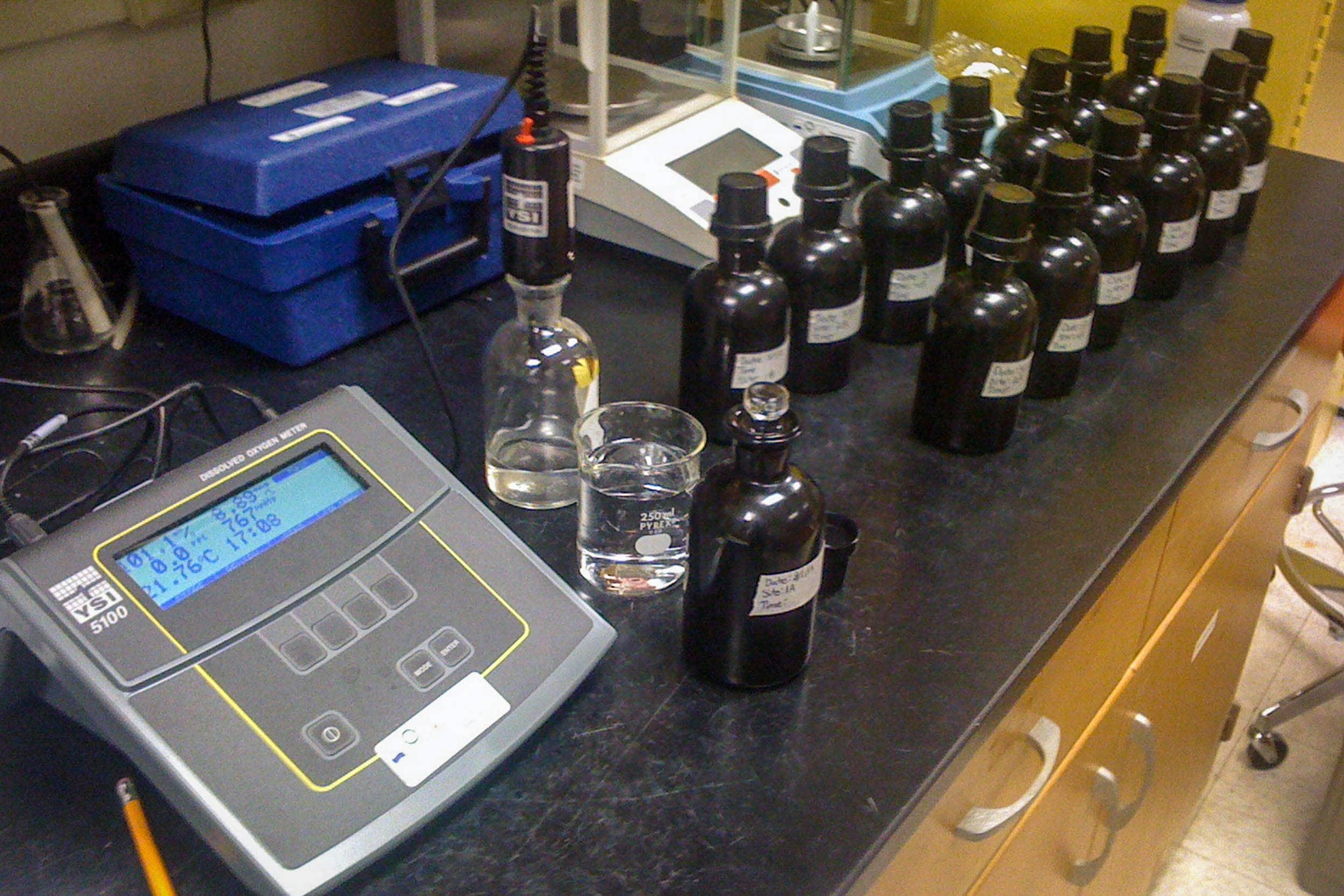EIH's laboratory is capable of determining biological oxygen demand (BOD).