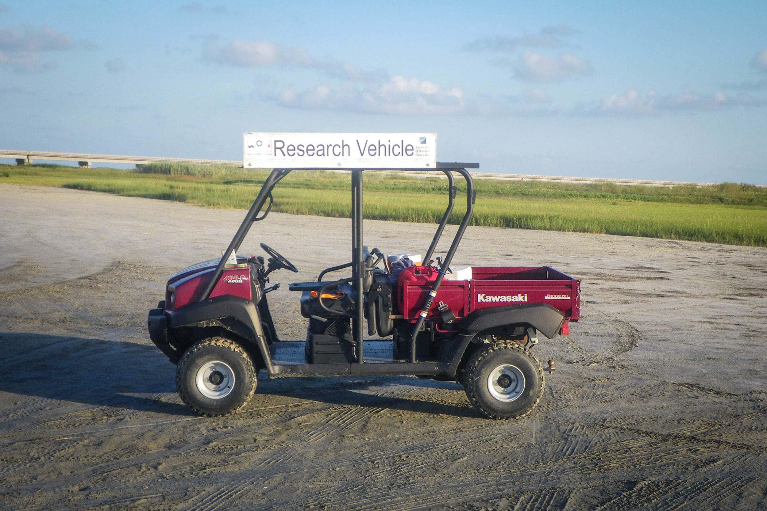 EIH's Kawasaki mule allows access to remote study sites.