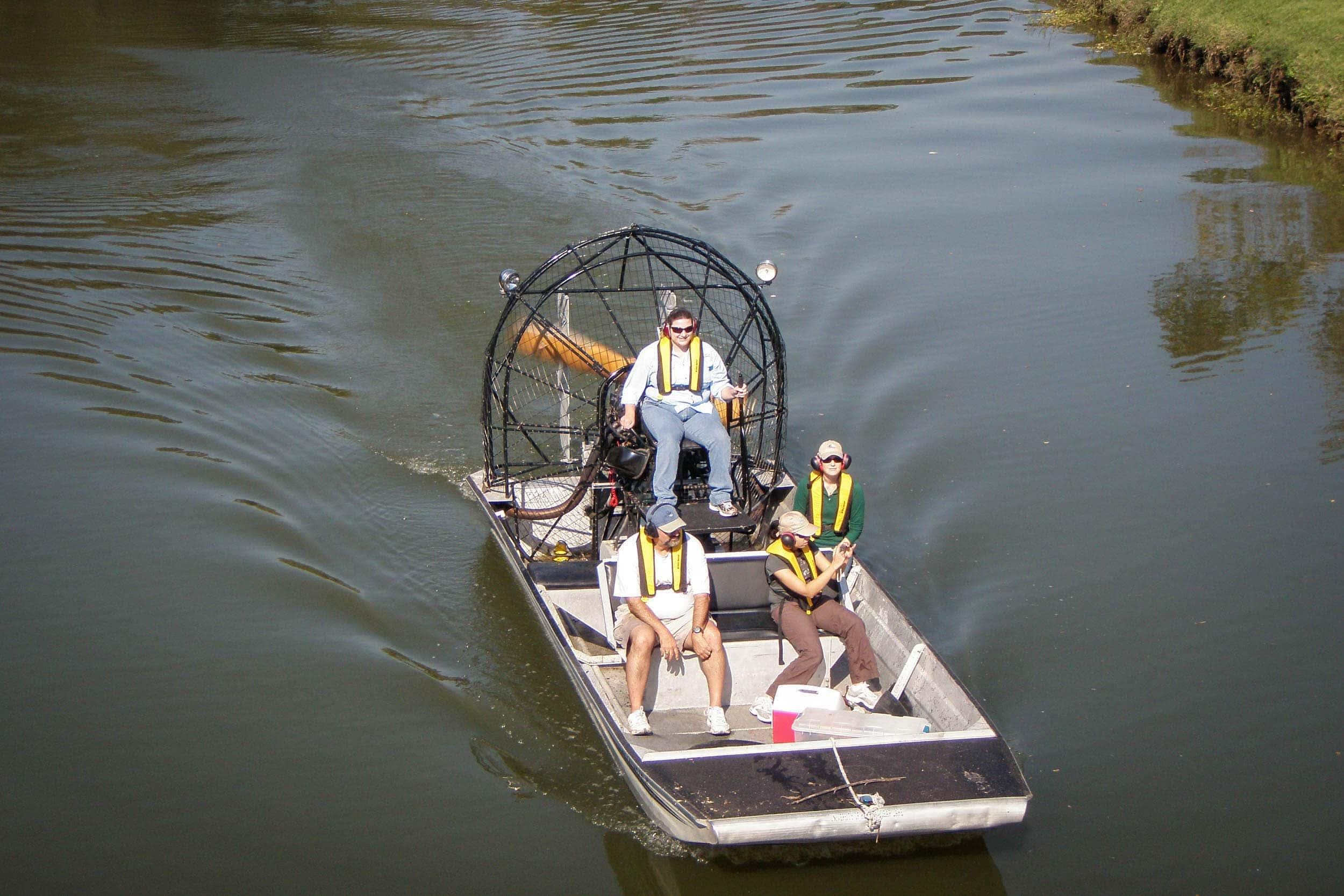 EIH Staff Get an Airboat Driving Lesson