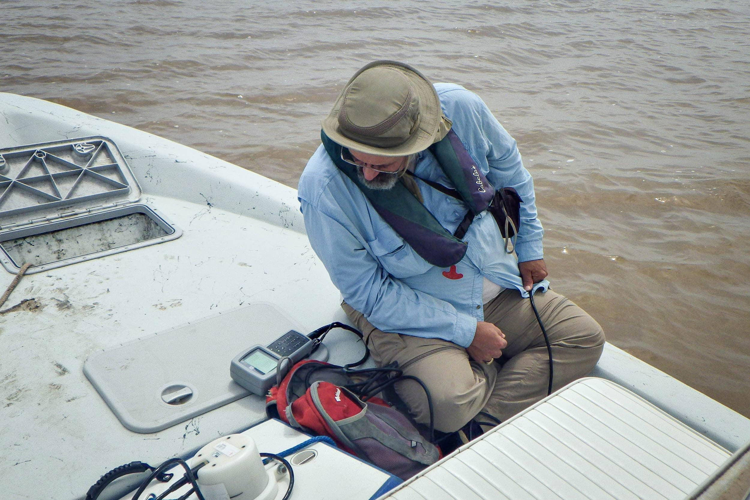George Guillen conducts a water quality profile