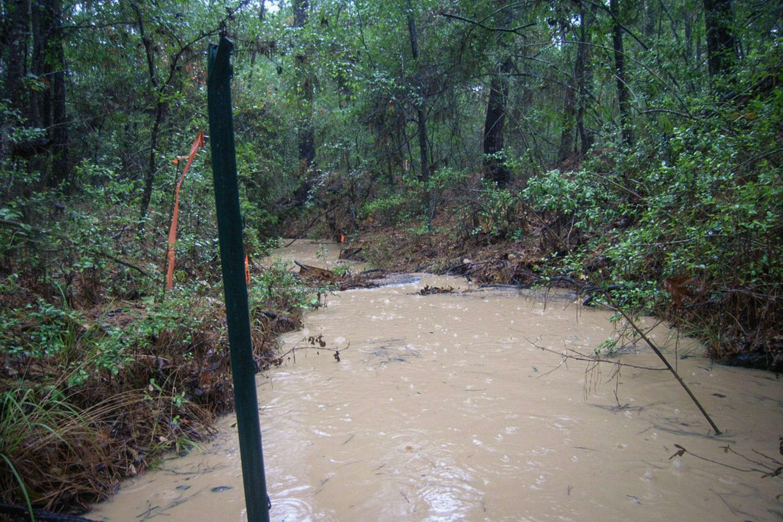 Site 1 during wet weather sampling event 3, June 22, 2011.