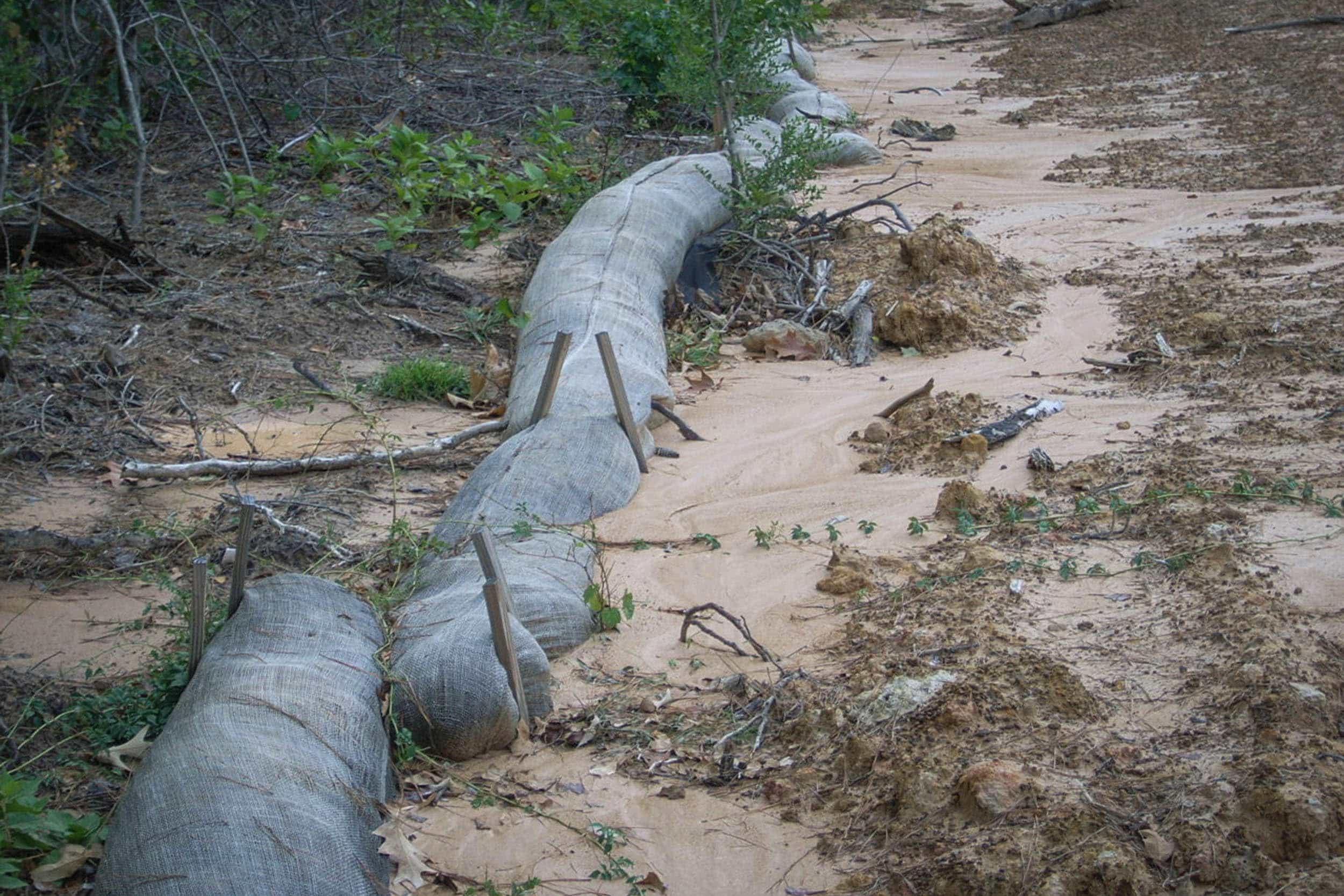 Construction activity upstream of sampler at site 1, September 19, 2011.