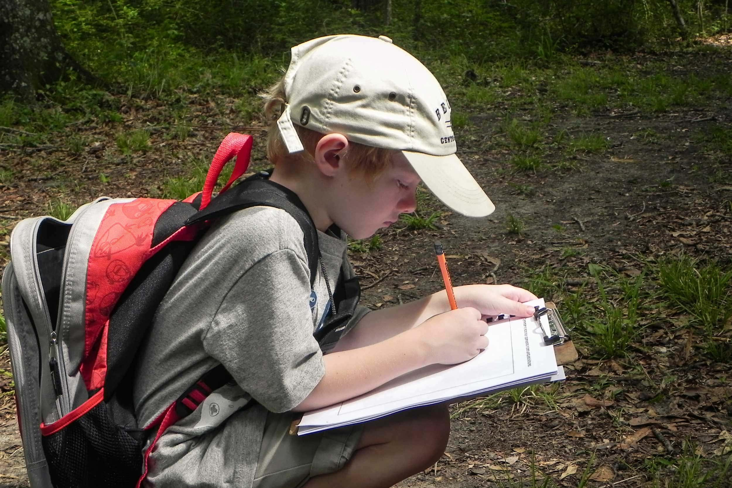 Campers have an opportunity to journal their observations