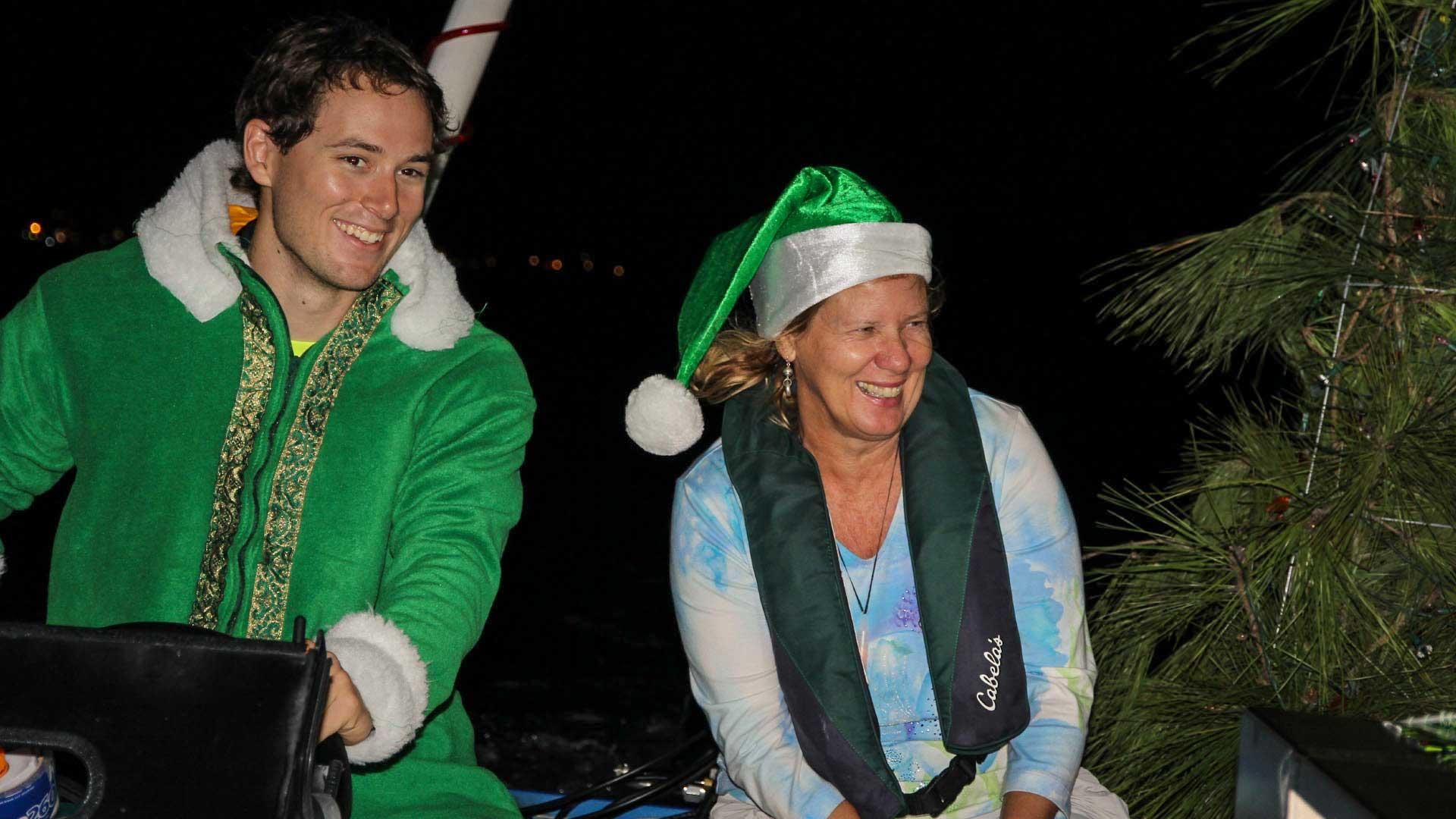 Elf Alex Miller and Sheila Brown on Creatures of the Sea, 3rd place winner