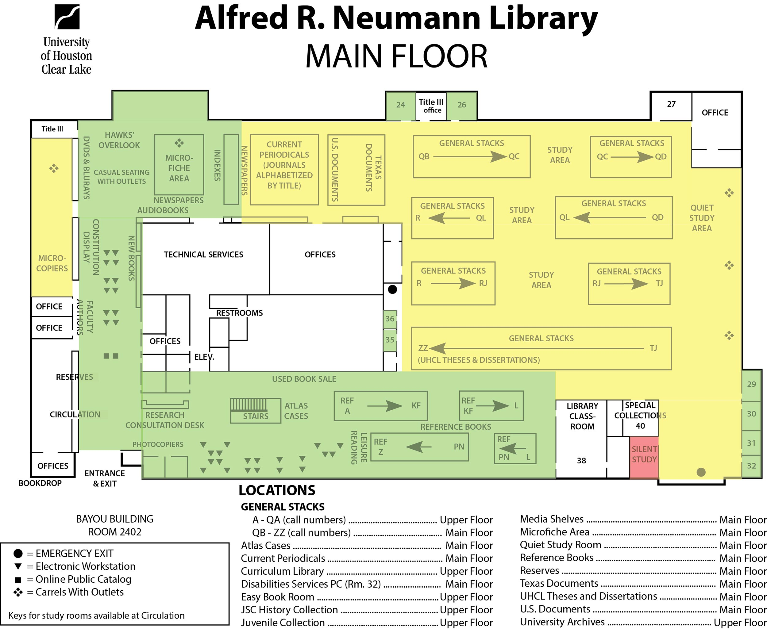Library Main Floor map