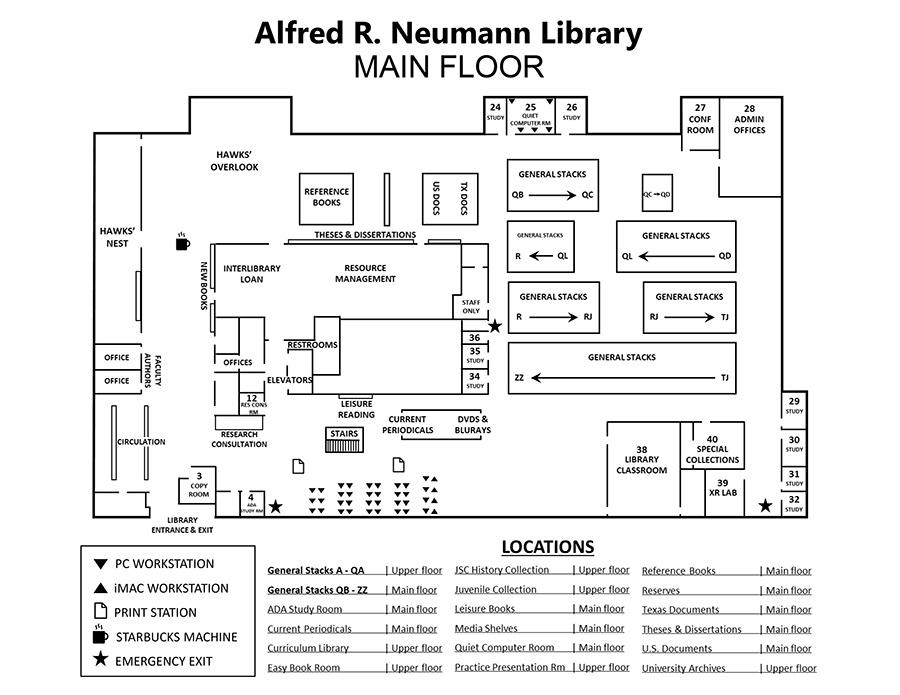 Floor Plans Alfred R Neumann Library University Of Houston Clear Lake